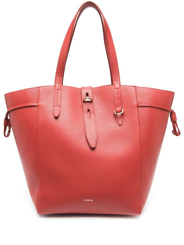 Furla Net grained-effect tote bag in red