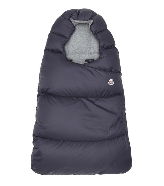 Moncler Enfant Baby quilted down bunting bag in blue