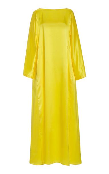 Bernadette Antwerp Katy Silk Maxi Dress in yellow