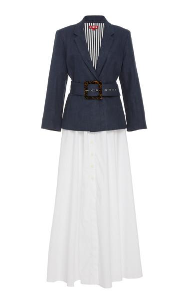 Staud Knightly Cotton Blazer Maxi Dress Size: 12 in multi