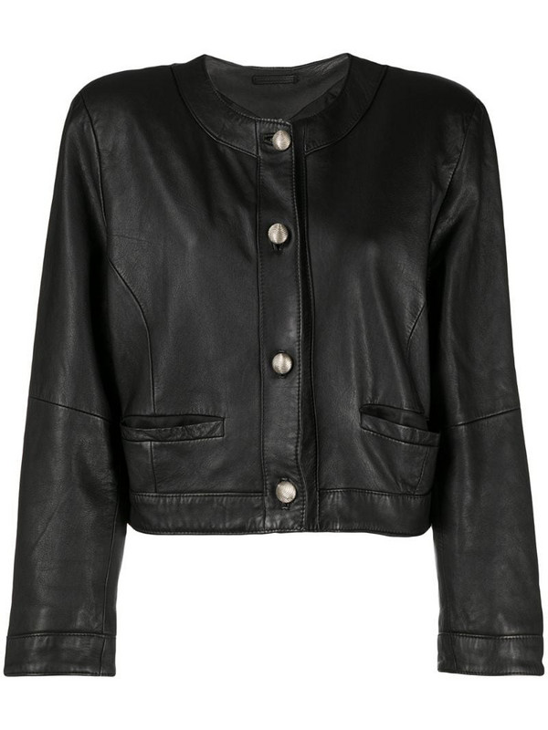 A.N.G.E.L.O. Vintage Cult 1980s round neck jacket in black