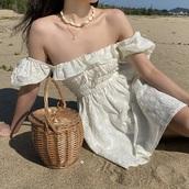 dress,white dress,white,ruffle,off the shoulder,cute,flowy,boho dress,mini dress,short dress
