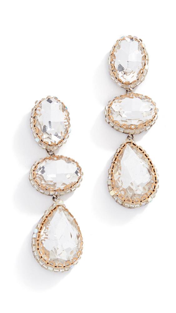 Deepa Gurnani Hadlee Earrings in silver