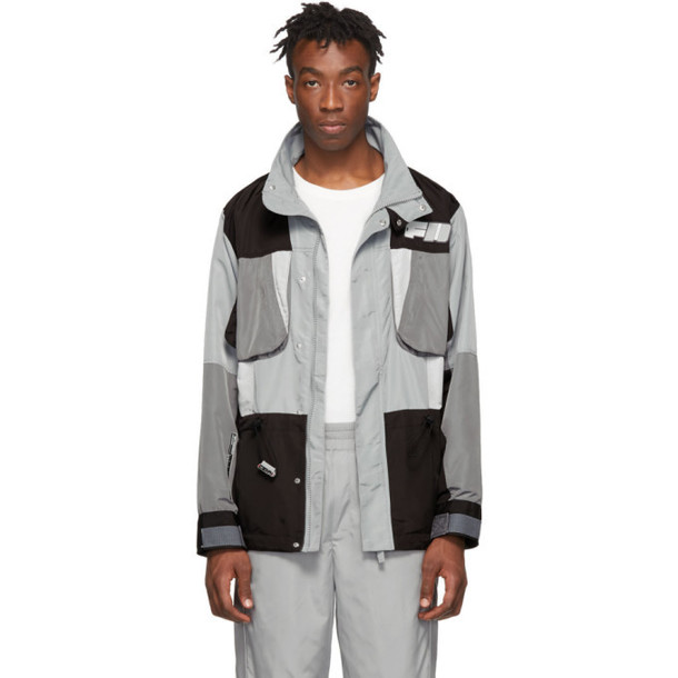 C2H4 Grey & Black Tactical Jacket