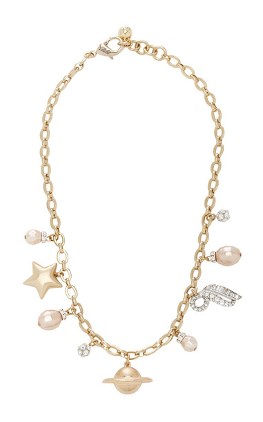 Lulu Frost Saturn Gold-Plated And Crystal Necklace