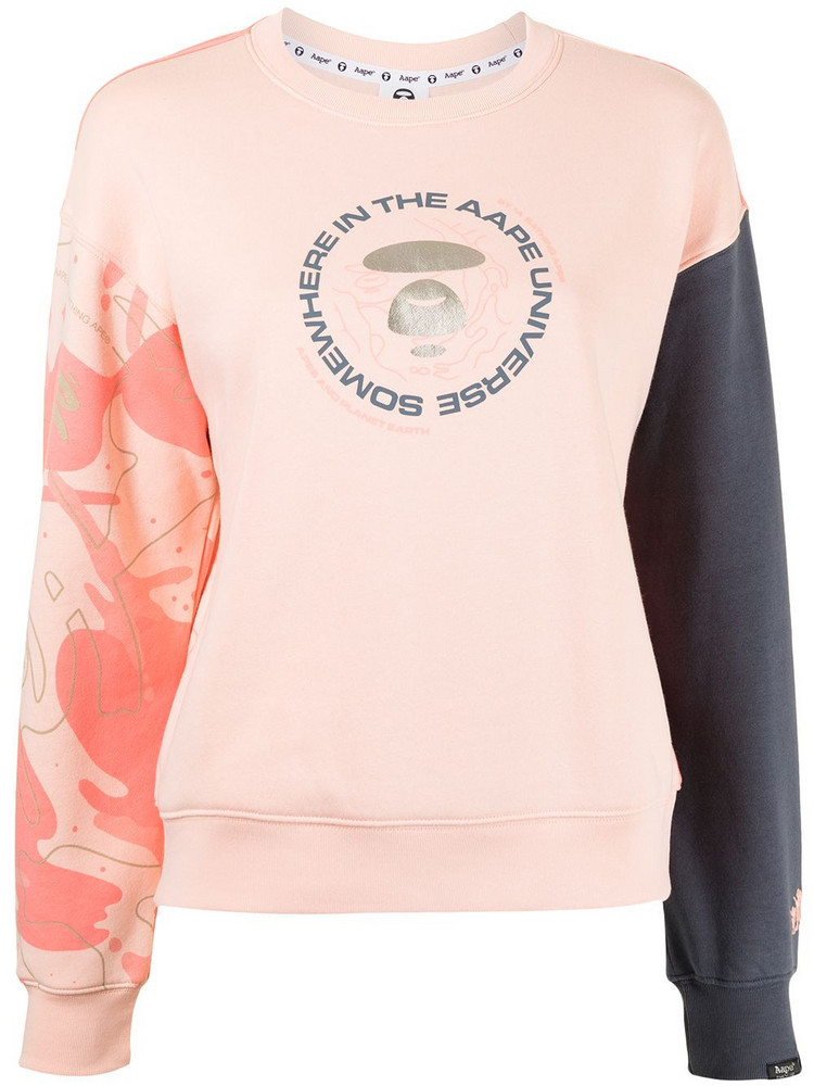 AAPE BY *A BATHING APE® AAPE BY *A BATHING APE® colour block sweatshirt - Pink
