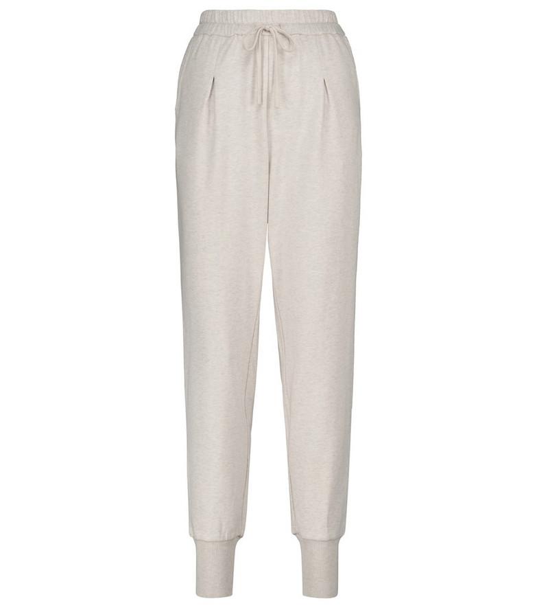 Varley Keswick stretch-cotton sweatpants in beige