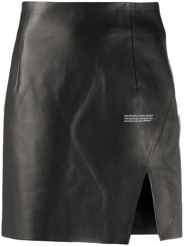 Off-White side-slit mini skirt in black