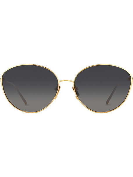 Linda Farrow 508 C4 cat-eye sunglasses in metallic