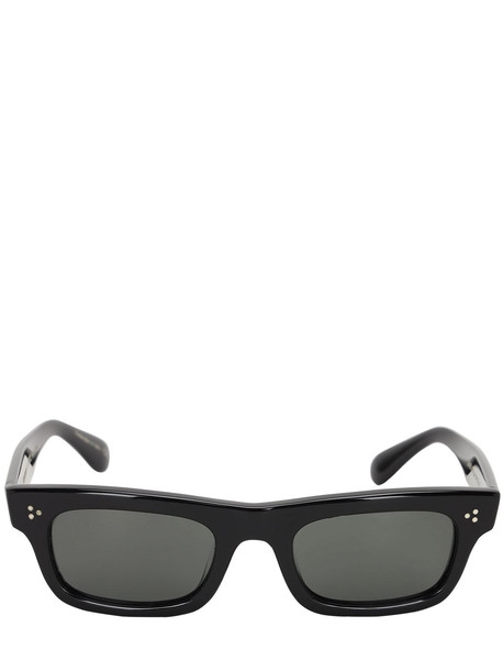 OLIVER PEOPLES Jaye Square Bolded Acetate Sunglasses in black