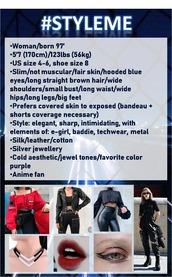 top,black,purple,elegant,egirl,baddies,techwear,streetstyle,metal,cold aesthetic,aesthetic,badass,women,style me