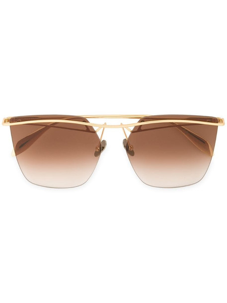 Alexander McQueen Eyewear tinted bar sunglasses in metallic