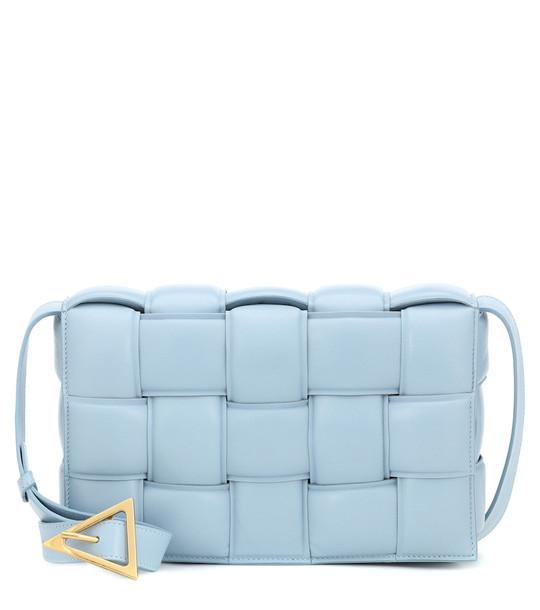 Bottega Veneta Padded Cassette leather shoulder bag in blue