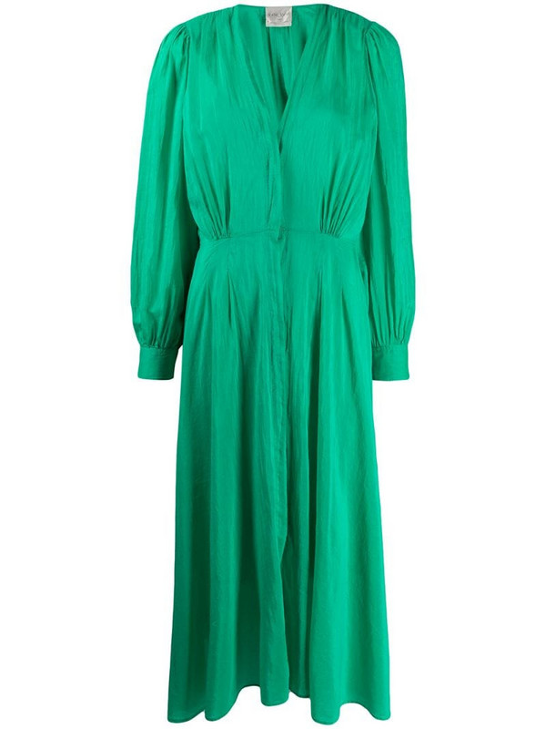 Forte Forte V-neck midi dress in green
