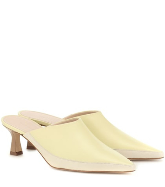 Wandler Bente two-tone leather mules in yellow