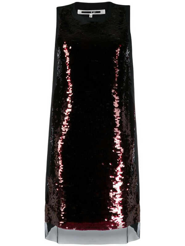 McQ Swallow shift dress in black