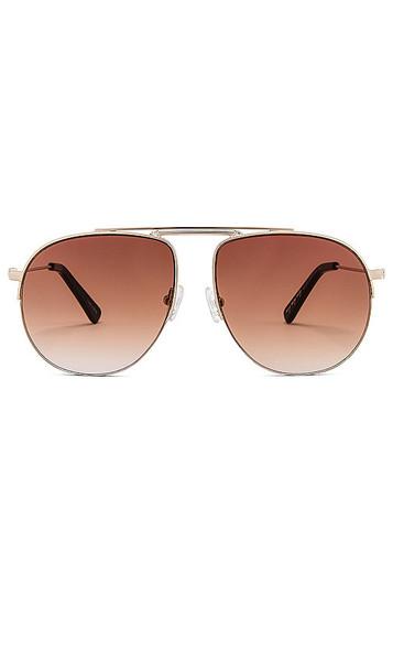 my my my Ridley Sunglasses in Metallic Gold