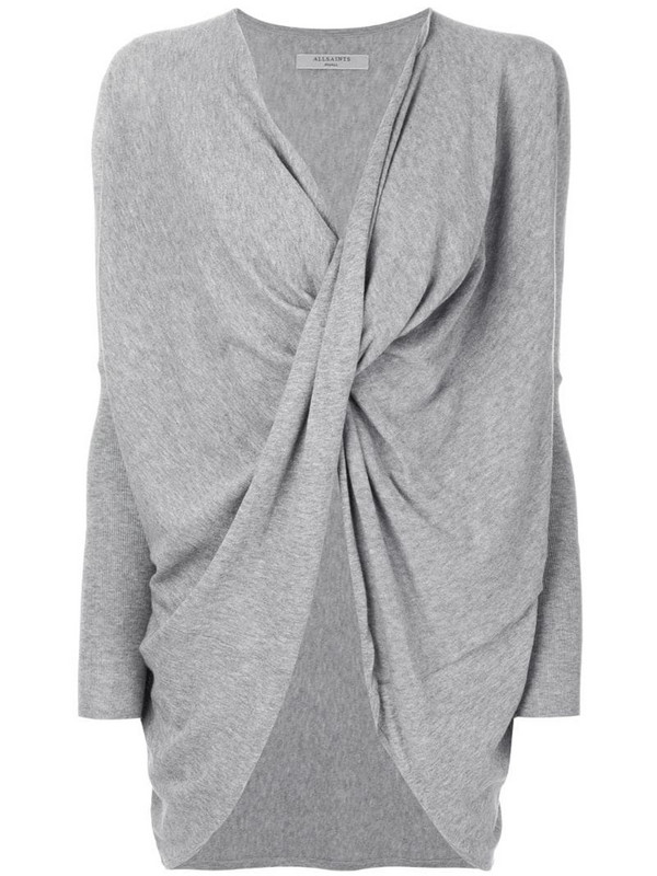 AllSaints Itat twisted jumper in grey