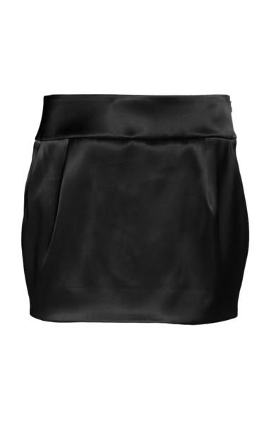 Alexandre Vauthier Fitted Satin Mini Skirt in black