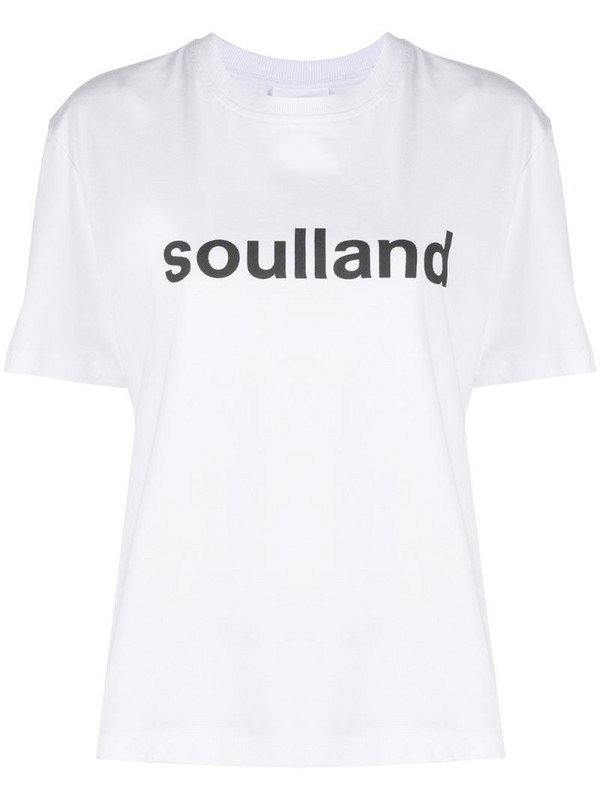 Soulland Isma logo print T-shirt in white