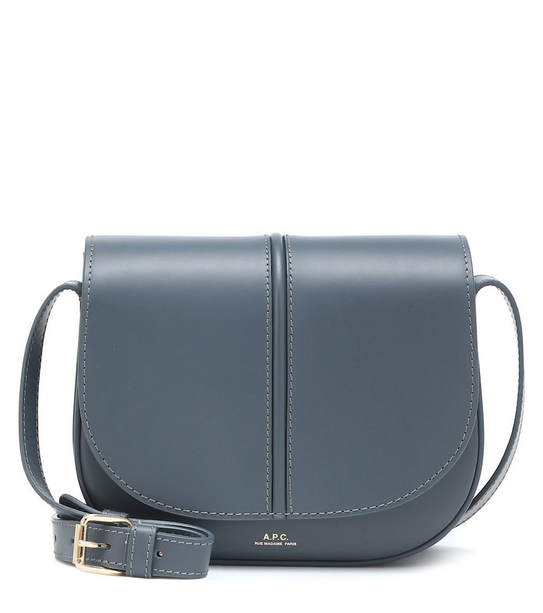 A.P.C. Betty leather crossbody bag in blue