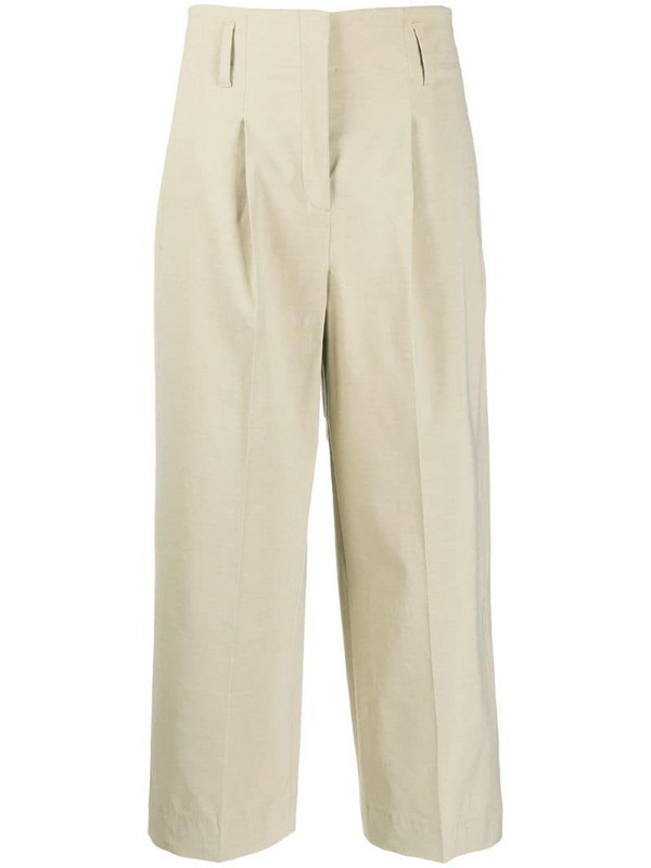 Luisa Cerano cropped fit trousers in brown