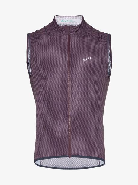 MAAP purple Stash logo print vest