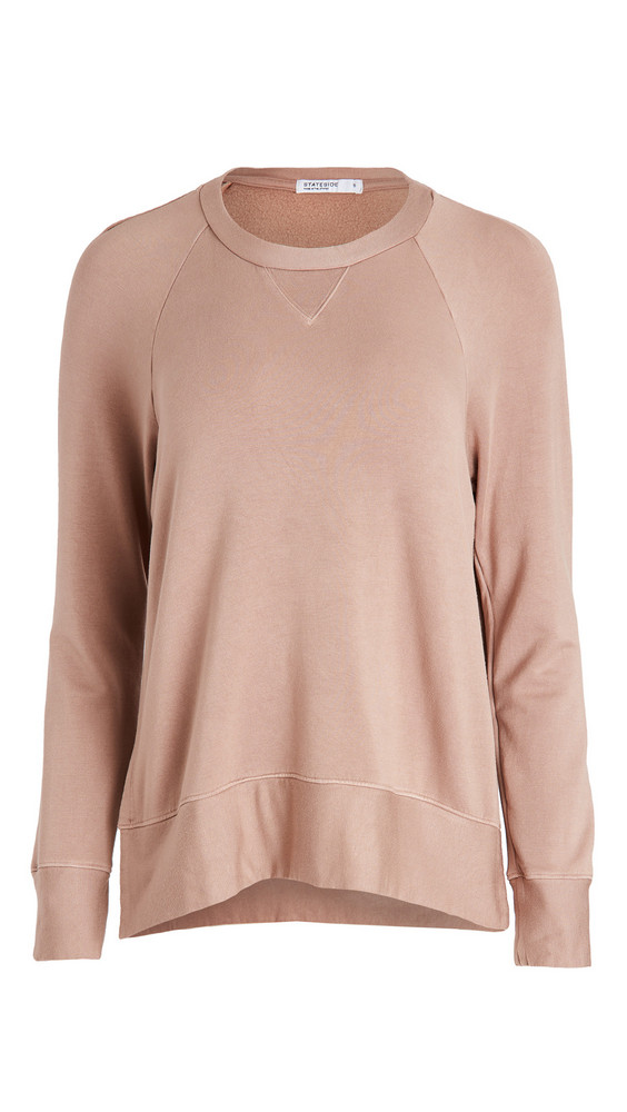 Stateside Fleece Raglan Sweatshirt in mushroom