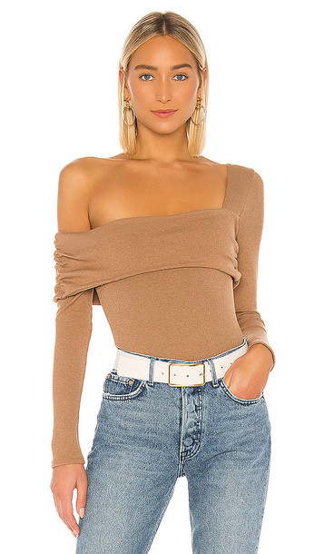 Lovers + Friends Lovers + Friends Florence Bodysuit in Tan in taupe