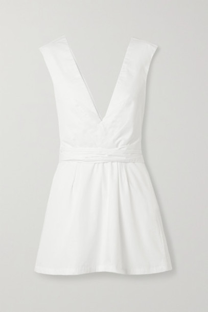 Kalita - Lemuria Layered Cotton-poplin Playsuit - White
