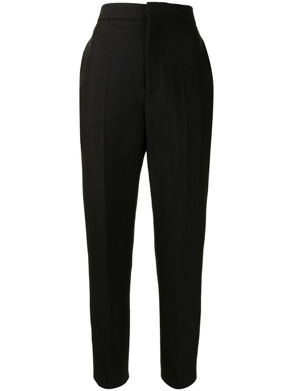 Balenciaga Pre-Owned high-waisted tailored trousers in black