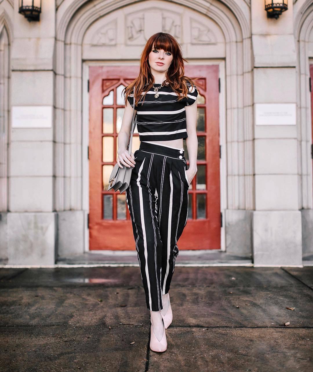 bag crossbody bag white shoes socks high waisted pants stripes black and white crop tops