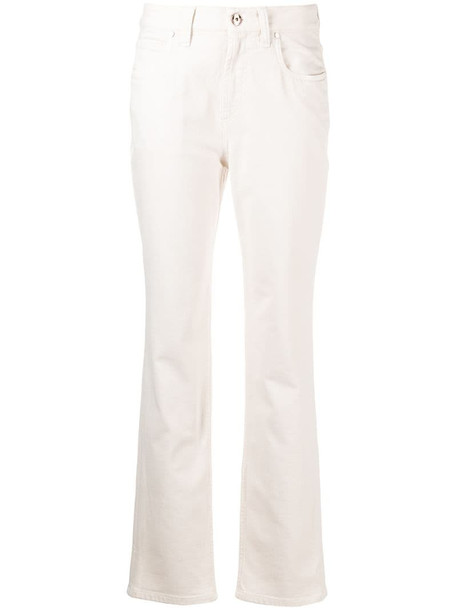 Brunello Cucinelli mid-rise slim-cut jeans in neutrals