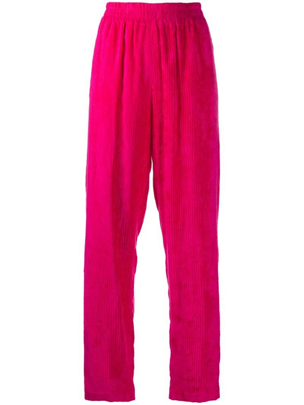Manuel Ritz corduroy straight-leg trouser in pink
