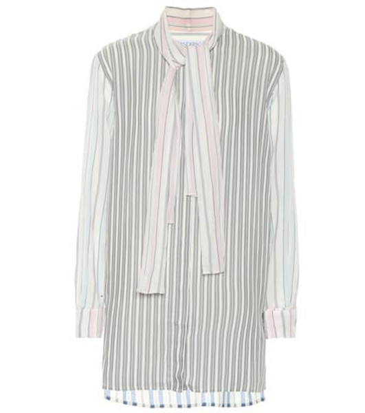 JW Anderson Cotton and silk-blend shirt