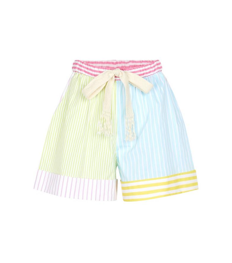 Staud Aft striped shorts