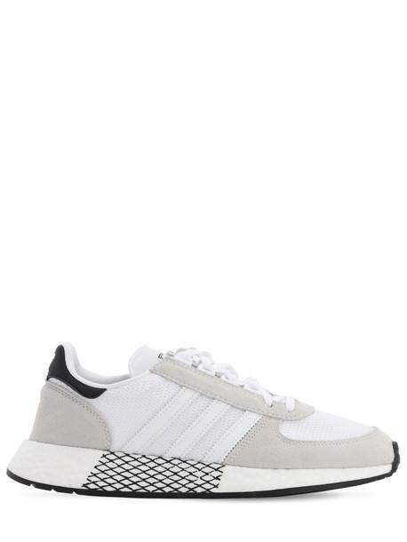 ADIDAS ORIGINALS Marathon Tech Sneakers in black / white