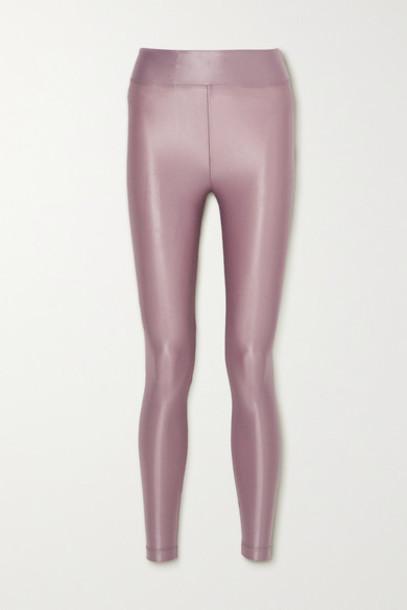 Koral - Lustrous Stretch Leggings - Lilac