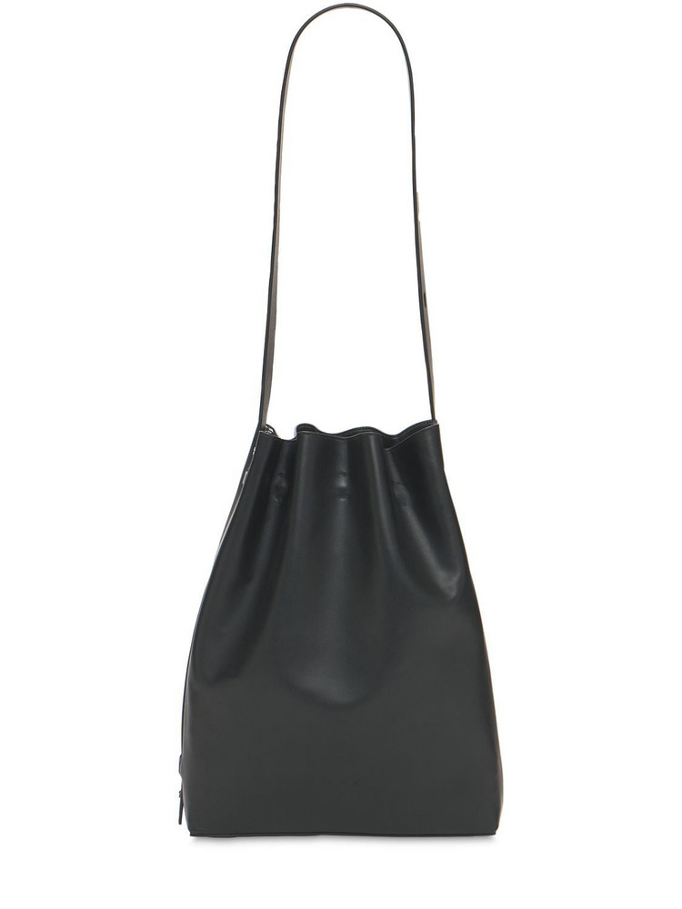 AESTHER EKME Marin Smooth Leather Bucket Bag in black
