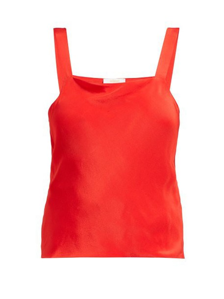 Worme - The Camisole Silk Top - Womens - Red