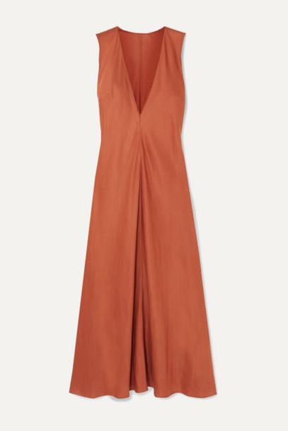 BONDI BORN - Lyocell Midi Dress - Camel