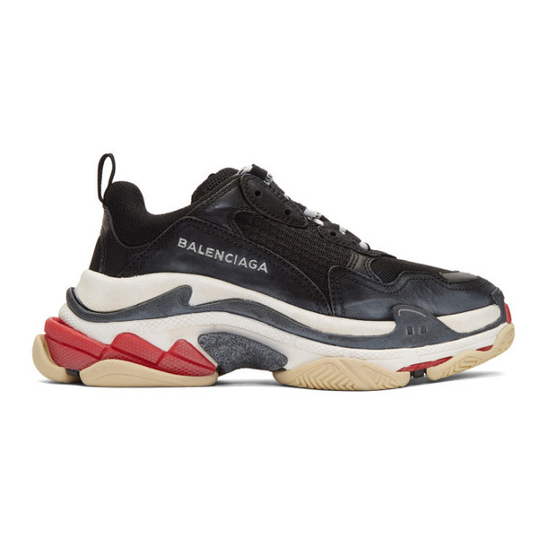 Balenciaga Black Triple S Sneakers