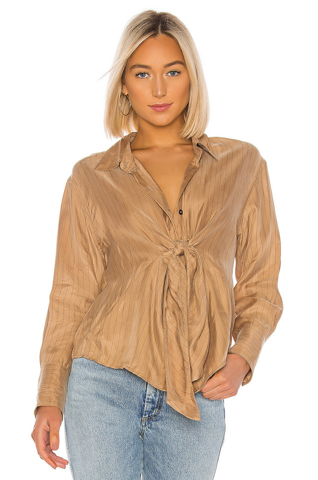 L'Academie The Florinda Blouse in brown