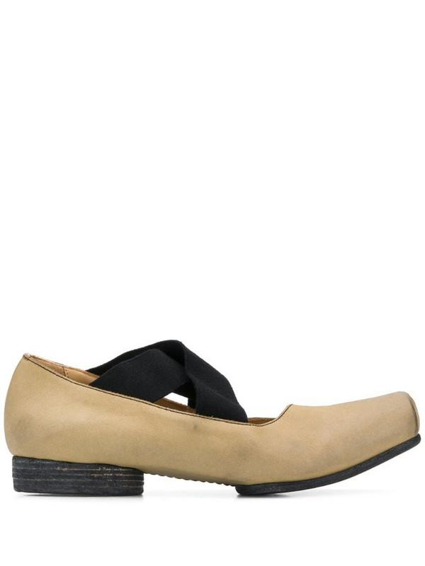 Uma Wang crossover-strap ballerina shoes in neutrals