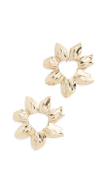 Ellery Erato Flower Earrings in gold