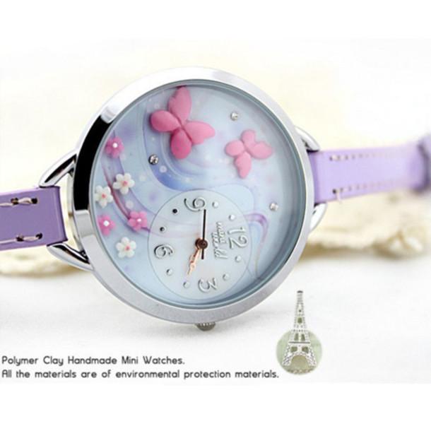 jewels buterflyes handmade polymer watch watch hanmade original