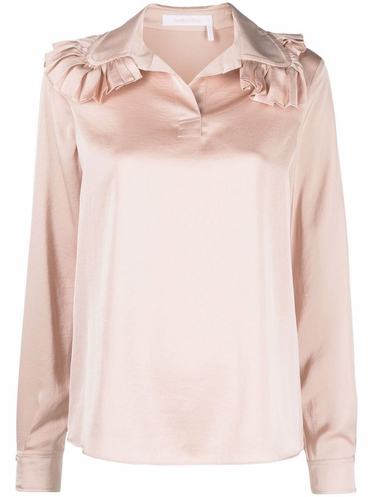 See by Chloé See by Chloé ruffle long-sleeve blouse - Pink