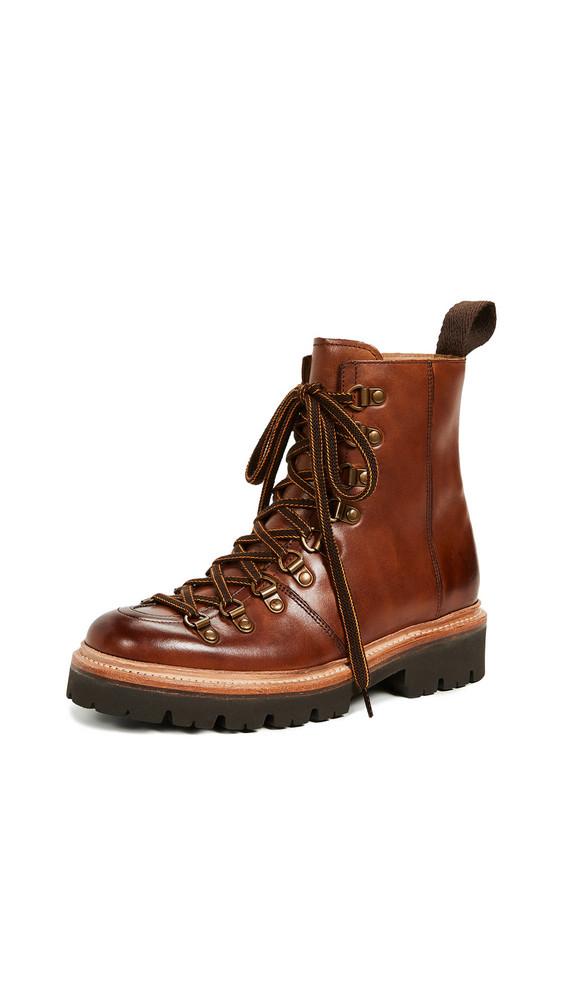 Grenson Nanette Combat Boots in tan