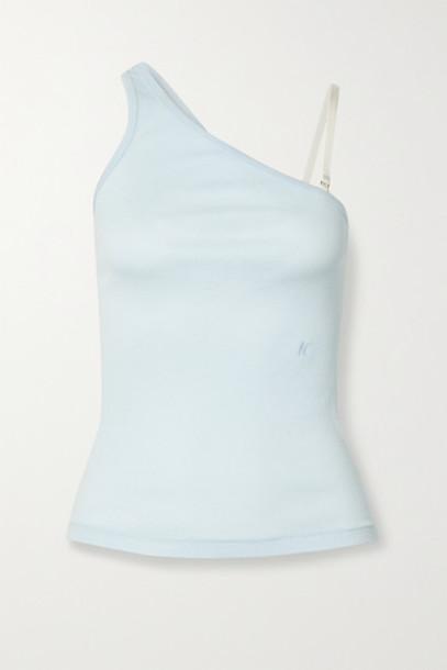 Helmut Lang - Ribbed Cotton-jersey Tank - Sky blue