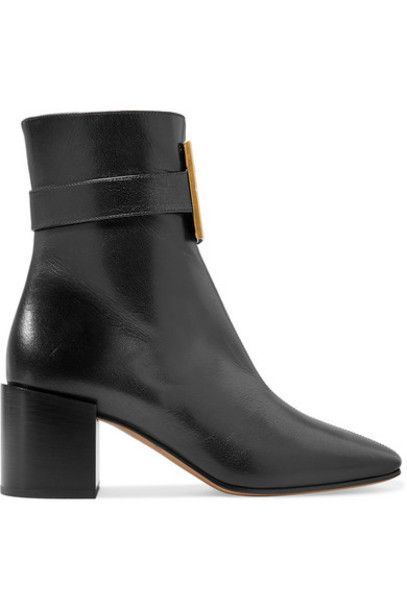 Givenchy - Logo-embellished Textured-leather Ankle Boots - Black
